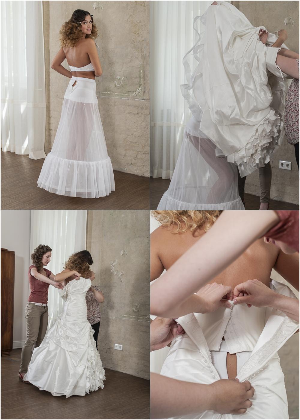 hogyan vegyél fel egy menyasszonyi ruhát